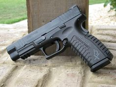 My new 'baby'  Springfield Armory XDm .40cal For hardcore defense of your campsite! #Springfield @Sportsman's Outdoor Superstore