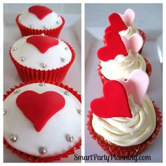Valentine Heart Cupcakes by Smarty Party Planning