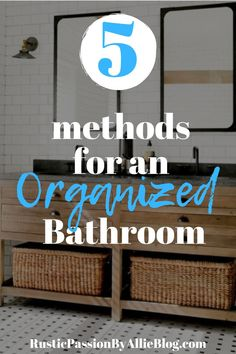 5 methods tor an organized bathroom. The decor tips will help you have a clean bathroom. If you are looking for the best small bathroom decor ideas or DIY ideas for your master bedroom you'll find the Bathroom Cleaning, Organized Bathroom, Bathroom Organization, Bathroom Storage, Neutral Bathroom, Small Bathroom, Bathroom Ideas, Bathroom Designs, Bathtub Decor