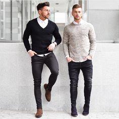 Se trata de llevar suéteres . Ellos se ven bien