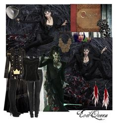 """Evil Queen 2"" by tiffycuss ❤ liked on Polyvore featuring мода, Once Upon a Time, Jay Ahr, BCBGMAXAZRIA, ADAM, Rosa Maria, Dolce&Gabbana, Jeeyun Ha Designs, Rick Owens и bib necklaces"