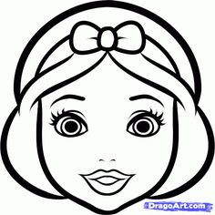Cartoon Drawings How to Draw Snow White Easy, Step by Step, Disney Princesses, Cartoons . Easy Cartoon Drawings, Drawing Cartoon Characters, Cartoon Girl Drawing, Baby Cartoon, Character Drawing, Drawing Cartoons, Disney Princess Cartoons, Disney Princess Drawings, Disney Drawings