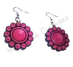 Handmade Quilled earrings. Call on +917086603269 or order from http://www.snapdeal.com/brand/hazel-hue-creatives/ https://instagram.com/hazelhue_/