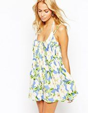 ASOS | ASOS Stripe Open Back Smock Beach Dress at ASOS