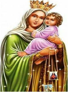 Virgen del Carmen Oración para Necesidades Económicas y Laborales Maria Lionza, Holy Mary, Baby Jesus, Decir No, Amen, Prayers, Wicca, Sony, Mystic