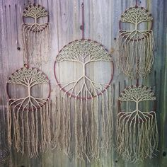 I love this!!! Trees (John will love) and dream cathers. This would be awesome on the baby's wall