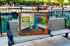 #lemom #yellow #wall #art #painting #reclaimed #wood #handmade from Micah sawinski for sale on website