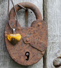 Genuine Amber Heart  Pendant  Necklace Honey by DreamsFactory