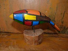 John Lynch Art Sculpture Wood Stained Glass Look  by ArtVineyard