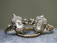 Diamond Arabesque rings by Cathy Waterman
