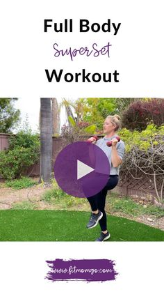 Full Body SuperSet Workout with a packed 20 minutes of strength and cardio moves! #superset #supersetworkout #fullbodyworkout #quickworkout #workoutvideos