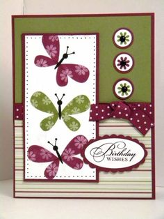 Razzleberry Butterflies by AEstamps2 - Cards and Paper Crafts at Splitcoaststampers