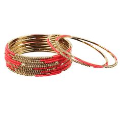 {Skinny Bangles Red} Jules Smith