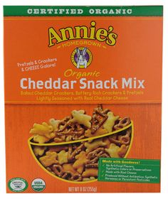 Annie's Homegrown Organic Cheddar Snack Mix