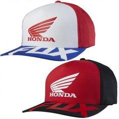 f9ba511469a Fox Racing Honda Basic Mens Caps Motocross Off Road Dirt Bike Flexfit Hats  Fox Racing