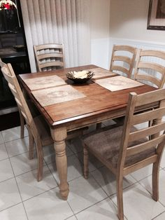Gorgeous Elm Amish made dining room set! | In Miller\'s Furniture ...