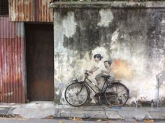 Love this #mural in #Penang #Malaysia by #ErnestZacharevic