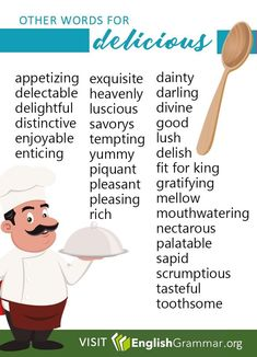 Other words for Delicious Learn English Grammar, English Vocabulary Words, Learn English Words, English Phrases, English Language Learning, Teaching English, Book Writing Tips, English Writing Skills, Writing Words