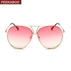 d003e5eeb7d Aliexpress.com   Buy Peekaboo mens oversized sunglasses women metal frame  orange yellow clear lens sun glasses for women male uv400 from Reliable sun  ...