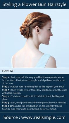 Styling a Flower Bun Hairstyle