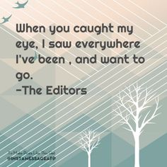 an end has a start-editors