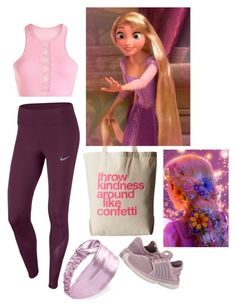 rapunzel activewear by rapunzelcorona on Polyvore featuring polyvore, fashion, style, NIKE, Lorna Jane, K-Swiss, Dogeared, Forever 21 and clothing