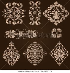 Vector Vintage Border Frame Filigree Engraving With Retro Ornament Pattern In Antique Baroque Style Ornate Decorative Antique Calligraphy Design - 123686806 : Shutterstock