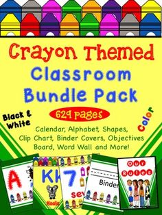 Crayon Themed Classroom Bundle Pack - Everything you will need to create your own crayon theme classroom.