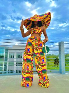 African Attire, African Wear, African Dress, African Women, African Hats, African Outfits, Latest African Fashion Dresses, African Print Fashion, Tops For Palazzo Pants