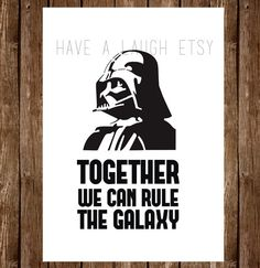 Darth Vader Card Together we can rule Star Wars by HaveALaugh