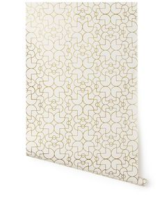 Our luxe, modern wallpapers are screen printed by hand Details - Roll: 27 in x 30 ft - Sample: 8.5 in x 11 in - Vertical Repeat: 35 in - Match: straight across - Finish: pre-trimmed - Material: clay c