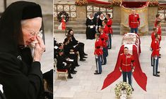 Denmark's Queen Margrethe joined her family as they said farewell to Prince Henrik today at the Christiansborg Palace Chapel in Copenhagen while large crowds gathered outside. Crown Princess Mary, Prince And Princess, Alexandra Manley, Queen Husband, Danish Prince, Queen Margrethe Ii, Danish Royalty, Danish Royal Family, Trending Now