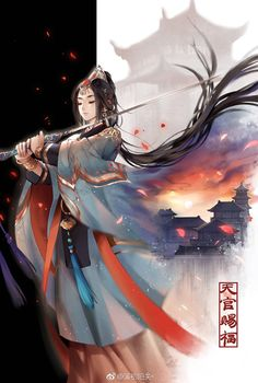 I love asian art and culture I want to collect everything I like! Ancient China, Ancient Art, Umibe No Onnanoko, Character Concept, Character Art, Chinese Picture, Chinese Drawings, Warrior Girl, Hinata Hyuga