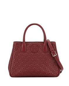 Tory Burch Marion Quilted Tote Bag, Red Agate