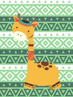 Poster - Girafinha Tribal