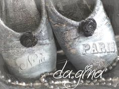 da.gina vintage: altered ballet slippers <3