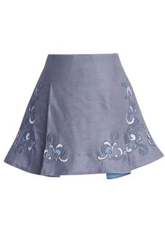 Lavender Whisper Embroidered Skirt - New Arrivals - Retro, Indie and Unique Fashion