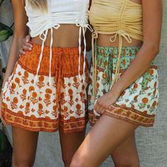Foridol Summer Boho High Waisted Shorts Wide Leg Beach Boho Shorts Wom – cuteshoeswear  pretty skirts skirt fall style skirt formal skirt #tshirtandskirtoutfit #chicwishskirt #formalskirt #prettyskirts Cute Skirt Outfits, Cute Skirts, Short Outfits, Boho Shorts Outfit, Women's Shorts, Linen Shorts, Crop Top And Shorts, High Waisted Shorts, Crop Top Et Short