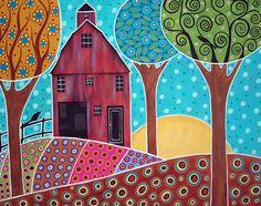 Farm Scene Art Lesson - inspiration