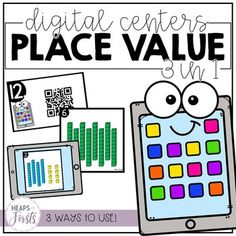 Place Value - Digital Centers 3 in 1 Centers