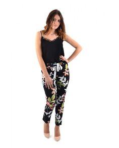 Pantalon à fleurs fluide