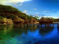 A small tropical island in French Polynesia, Moorea is neighbor to the island of Tahiti, and the island of Bora Bora is also nearby.