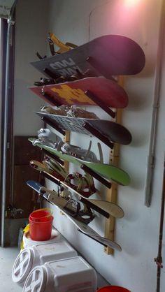 Snowboard Wood Storage Rack   Scorpion Basics - StoreYourBoard.com