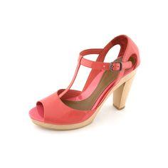 """Modèle """"France"""" sandale talon bois cuir verni corail - Mellow Yellow été 2009 - Camille Daurel design"""