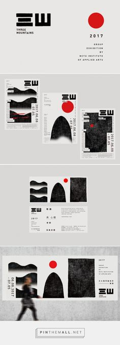 Three Mountains on Behance - created on Graphic Design Books, Graphic Design Typography, Book Design, Branding Design, Dm Poster, Typography Poster, Print Layout, Layout Design, Creation Flyer