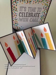 Stampin' Up!, Pop Up Panel card, Party With Cake, Build A Birthday