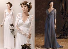 O Vestido Império é um clássico e fica bem em magrinhas e cheinhas. Se você tiver uma barriguinha saliente, aconselho a não colocar o franzido. Segue esquema de molde que pode ser usado tanto para fazer um vestido de festa como de noiva do 36 ao 56.