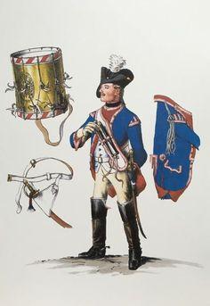 Prussia; Dragoon Regiment Nr.5, Drummer, c.1750 by Adolph Menzel