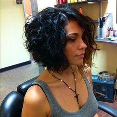 10 Good Curly Asymmetrical Bob Httpwwwshort haircut