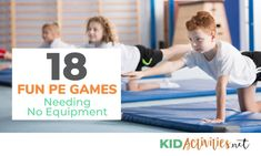 A collection of fun PE games needing no equipment. These games are a great combination of exercise and fun ideal for elementary age kids. Youth Games, Gym Games, Camping Games, Games For Kids, Physical Education Activities, Team Building Activities, Sports Activities, Motor Activities, Health Education